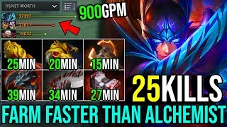 How to Farm Faster Than Alchemist [Phantom Assassin] INSANE GOLD HACK 900GPM 25Kills Dota 2 FullGame