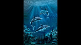 My Dolphin family painting