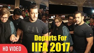 Salman Khan With Mom Helen Departs For IIFA 2017 | Salman Khan Spotted A International AIrport