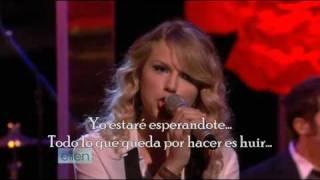 Taylor Swift - Love Story ( Subtitulado en Español ) [ LIVE onThe Ellen Degeneres Show ]