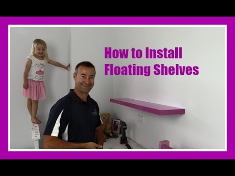 how to hang floating shelves on a plasterboard wall youtube. Black Bedroom Furniture Sets. Home Design Ideas