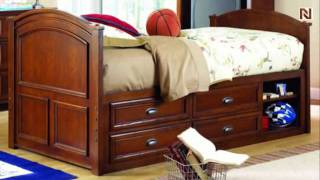 Lea 625-949r 4/6 Full Captain Bed From Deer Run