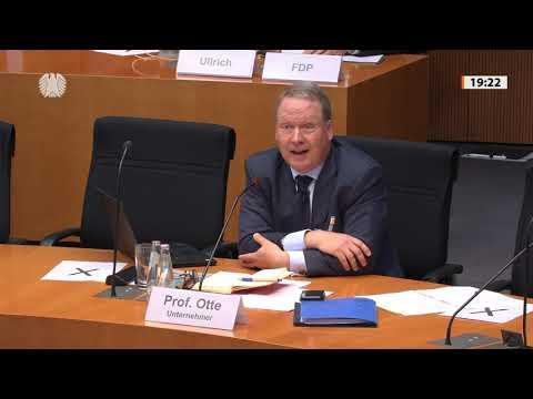 MAX OTTE als Experte im Bundestag: