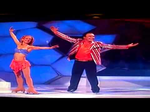 todd carty stumble off stage  dancing on ice
