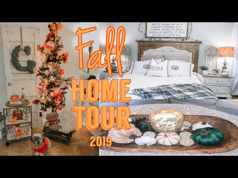 FALL HOME TOUR 2019 | FALL FARMHOUSE DECOR | HALLOWEEN IDEAS