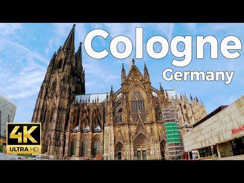 Cologne (Köln), Germany Walking Tour (4k Ultra HD 60fps)