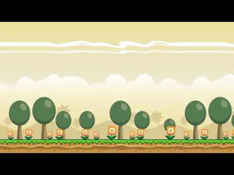 2D Horizontal Parallax Game Background