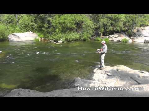 Trout Fishing with a Spinner