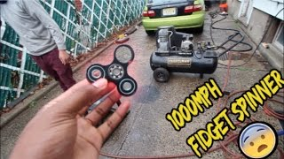 1000 MPH FIDGET SPINNER EXPERIMENT! (GONE WRONG)