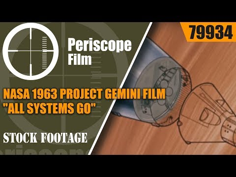 "NASA 1963 PROJECT GEMINI FILM ""ALL SYSTEMS GO"" PROJECT MERCURY  79934"