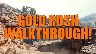"COD Ghosts: New Map ""GOLD RUSH"" Walkthrough! (Nemesis DLC)"