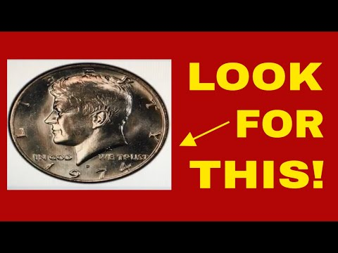 RARE 1974D KENNEDY HALF DOLLAR WORTH MONEY! HOW TO FIND IT? COINS TO LOOK FOR!!