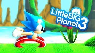 LittleBigPlanet 3 - Sonic The Hedgehog - PS4 PRO Gameplay