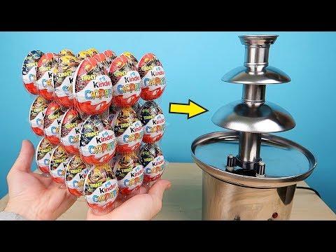 Что если сделать Шоколадный Фонтан из 36 Киндер Сюрпризов! Alex Boyko