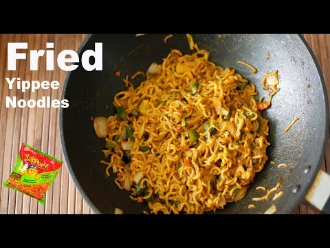 Fried Yippee Noddles Street Food | Fried Maggi | Best Fried vegetable  Noodles 2018