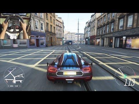 Koenigsegg Agera RS – Forza Horizon 4 | Logitech g29 gameplay