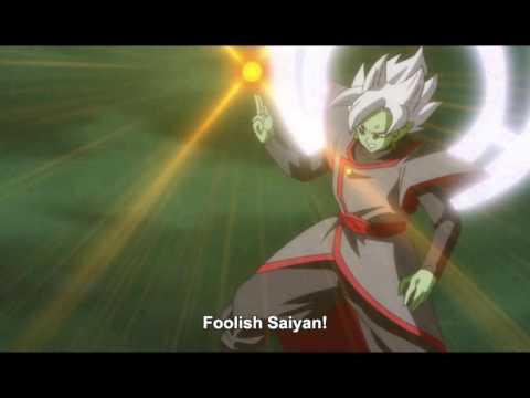 Goku SSB Kamehameha vs Fused Zamasu