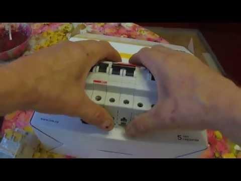 Электрическая схема подключения автоматических выключателей.