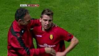 Gol de Brandon (1-1) en el Sevilla FC - RCD Mallorca - HD