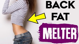 How To Lose Back Fat For Women |  4 FAT MELTING Back Exercises For Women!
