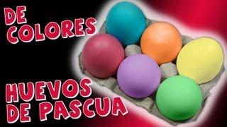 Como Pintar Huevos de Pascua *How to Easter Eggs* Hacer Huevos de Pascua Pintura Facil Para Ti