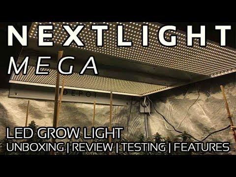 NextLight Mega LED Grow Light Review, Unboxing, PAR testing.