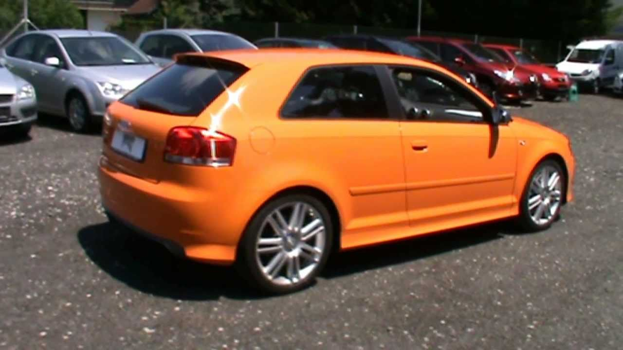 2007 audi s3 2 0 tfsi quattro in lamborghini orange color review start up engine and in depth. Black Bedroom Furniture Sets. Home Design Ideas