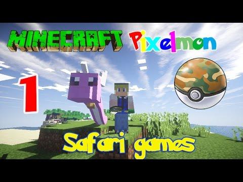 Minecraft Pixelmon Safari Games! #1 เดินทางจับโปเกม่อนเก่งๆ ก่อนหมดเวลา
