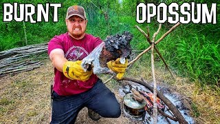 Baking Wild MEAT in ASH! 12 Day Budget Survival Challenge - Day 6