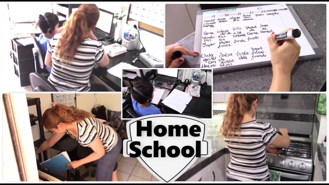 Limpieza y organización en casa con las clases en línea