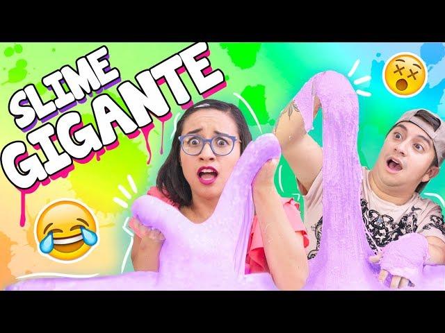 SLIME GIGANTE!!! METÍ LA CARA *mala idea* con Mario Aguilar ✎ Craftingeek