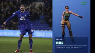 Cardiff defender Callum Paterson loves a Fortnite celebration