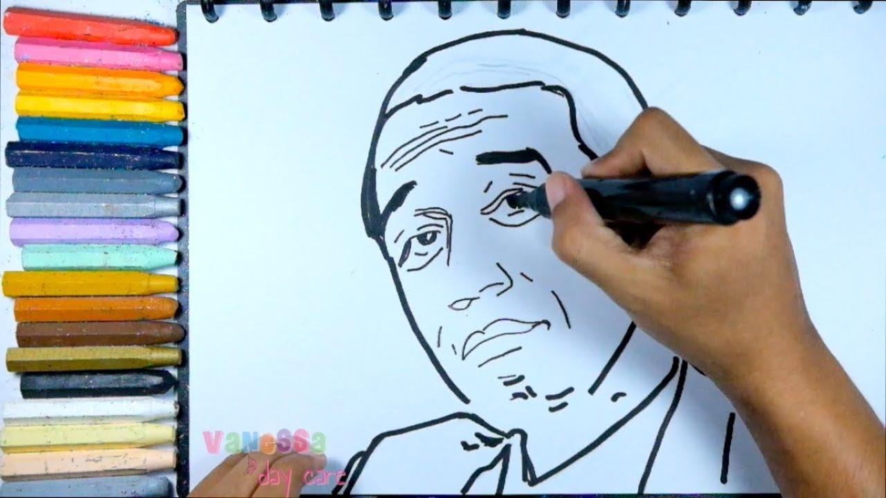 Cara Menggambar Jokowi Teknik Mewarnai Untuk Pemula