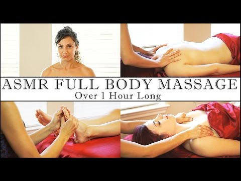 1 Hour Full Body ASMR Massage, Relaxing Soft Spoken & Gentle Whisper, Back, Foot
