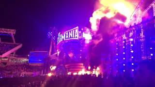 WWE WrestleMania Catches on FIRE!!!!!!