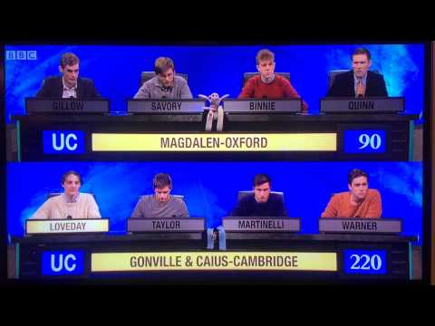 University Challenge 2015 Caius Loveday Final Hapax Legomenon