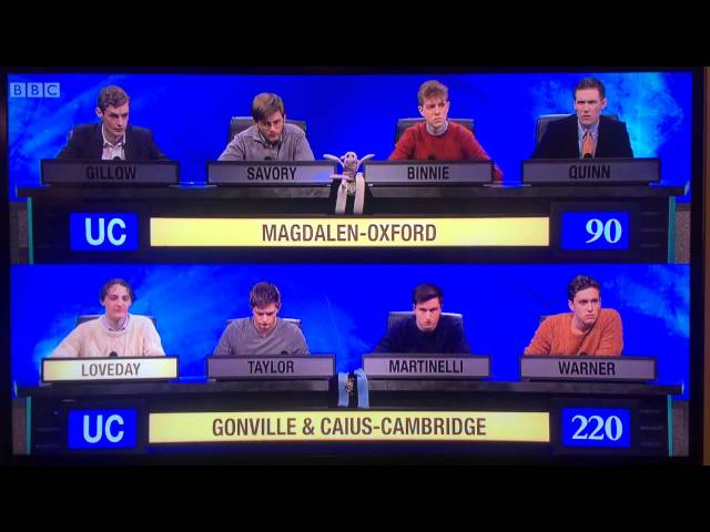 The Definitive University Challenge Drinking Game