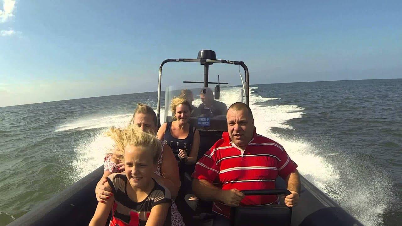 Powerboat varen Scheveningen - wat een gigantische snelheid!