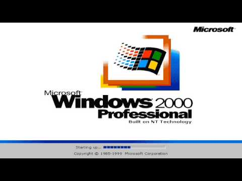 windows 2000 log in screen after bootscreen youtube