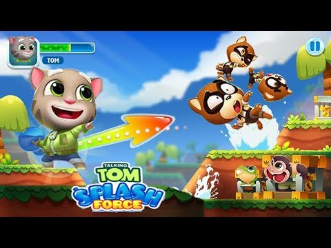 TALKING TOM SPLASH FORCE - Gameplay IOS, Android - Tom Games Mobile