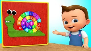 Learn Alphabets with Baby - Alphabets Song for Children - Kids Learning Snail Toy ABC Song Education