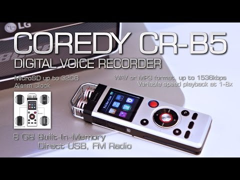 Coredy CR-B5 Digital Voice Recorder (Review) 8GB Built-In Memory, FM Radio, USB // by s7yler