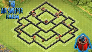 Clash Of Clans - Melhor Layout de Farm para CV8 AIR SWEEPER (Town Hall 8 Farming Base) #1