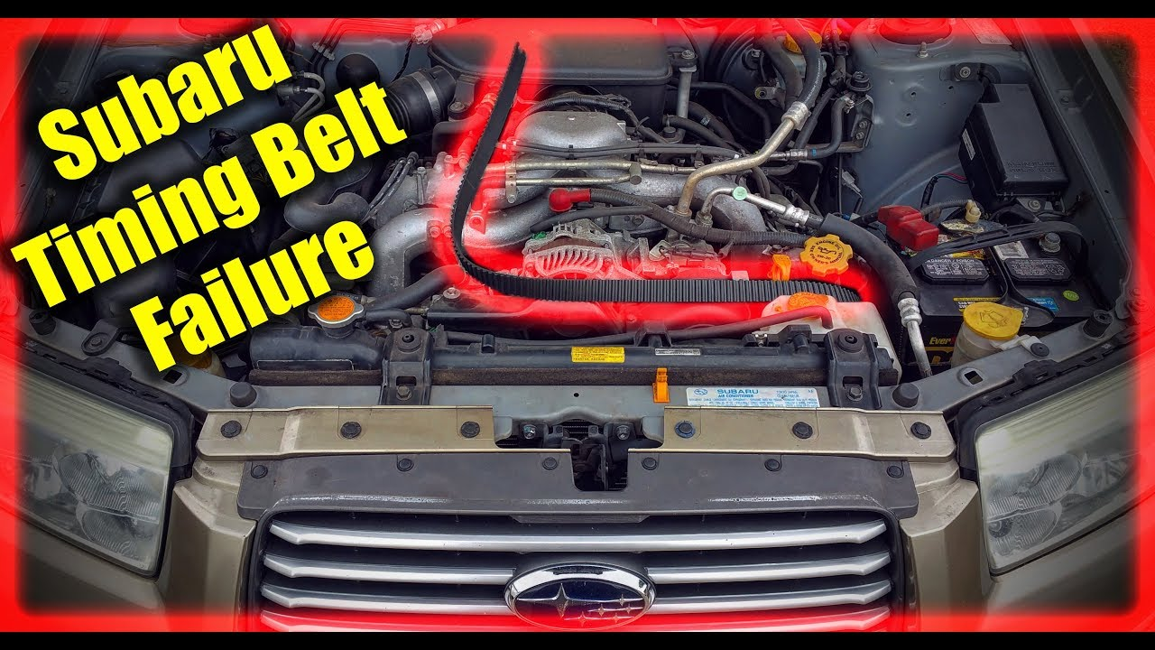 Subaru Timing Belt Failure Youtube
