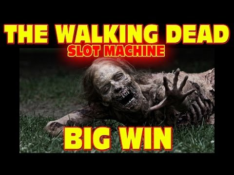 The Walking Dead SLOT MACHINE Las Vegas Slots Big Win