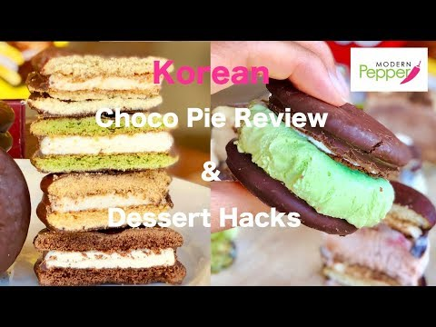 Korean Moon Pies: Choco Pie 4 Flavors Review + 4 Ways To Enjoy (Dessert Hacks & Ice Cream Sandwich)