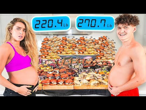 Who Can Gain the Most Weight Challenge w/ Sommer Ray Vs FaZe Clan