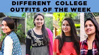 DIFFERENT  COLLEGE OUTFITS OF THE WEEK | BEAUTY SQUAD | LATEST BEAUTY VIDEOS