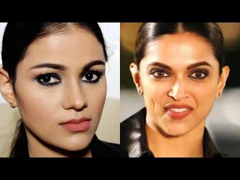 DEEPIKA PADUKONE Inspired Makeup Tutorial |Easy BLACK ...  DEEPIKA PADUKON...