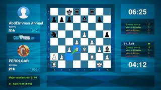 Chess Game Analysis: PEROLGAR - AbdElrhman Ahmad : 1-0 (By ChessFriends.com)
